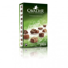 Multi-flavor Belgian pralines with milk chocolate sweetened with stevia, no sugar, 100g