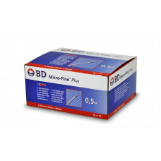 Bd Micro-fine Plus Insulin Syringes U-100 0,5ml 0.30mm (30G) x 8mm - box of 100