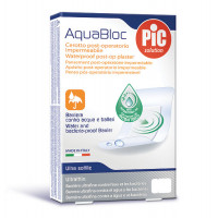 Aquabloc POST-OP 6x10cm (5) antibacterial adhesive bandages