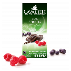 Dessert chocolate with forest fruits and stewia, no sugar added, 85 g