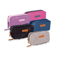Gray isothermal bag for diabetics
