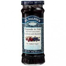 St Dalfour jam with cranberry and berry, no sugar added 284 g
