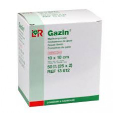 Gazin gauze compresses 10x10cm 100 pieces - sterile 8 layers, 17 threads