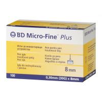 Pen Needles Micro Fine Plus 31G, 0,25mm x 8mm - box of 100