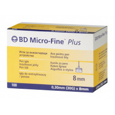 Pen Needles Micro Fine Plus 31G, 0,25mm x 8mm - box of 100