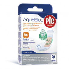AQUABLOC 19x72mm (20) antibacterial adhesive bandages