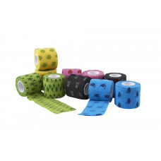 KRUUSE Fun-Flex Pet bandage, assorted, 10 cm x 4,5 m