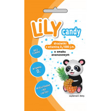 Lily candy with vitamin D pineapple flavor 40g