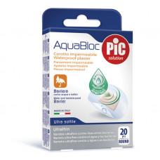 AQUABLOC round 20 antibacterial adhesive bandages