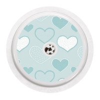 FreeStyle Libre Sticker - Hearts in Blue