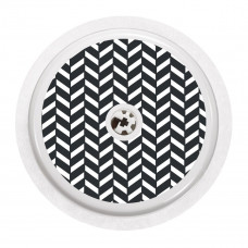 FreeStyle Libre Sticker - Black and White Herringbone