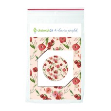 Illustrated FreeStyle Libre sensor sticker - Poppies