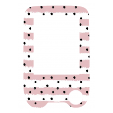 Sticker with a protective foil for the FreeStyle Libre reader - pink stripes
