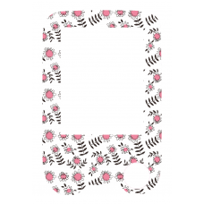 Sticker with a protective foil for the FreeStyle Libre reader - pink flowers