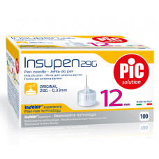 Insupen pen needles 29G, 0.33 mm x 12 mm - box of 100