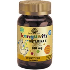 Kangavites Chewable Vitamin C For Children 100 mg Tablets Natural Orange Burst Flavour