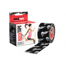 RockTape Kinesiology tape 5m x 5cm skulls/black