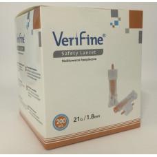 Nakłuwacze jednorazowe Verifine 1,8mm 21G - 200 sztuk