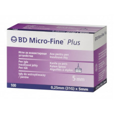 Pen Needles Micro Fine Plus 31G, 0,25mm x 5mm - box of 100