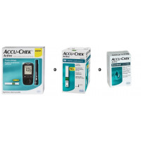 Set: Accu-Chek Active Glucometer + Accu-Chek Active Strips 50 pcs + Control solution