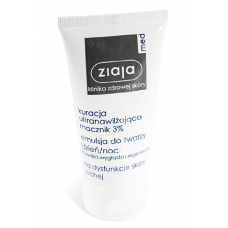 Ziaja med, day/night facial emulsion, 3% urea, ultra-moisturizing treatment