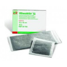 Vliwaktiv Ag 10x10cm - active carbon with silver absorbent compress (1 piece)
