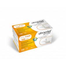 Droplet® 32G 5mm x 0.23mm pen needles - 100 pcs