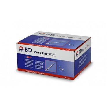 BD MICRO-FINE PLUS INSULIN SYRINGES U-100 1ML 0,33MM (29G) X