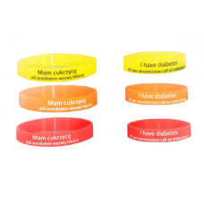 Silicone 'I have diabetes' band big