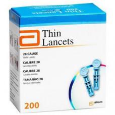 Thin (Optium Xido) lancets 200 pieces