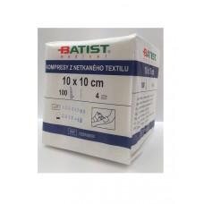 Non-sterile nonwoven compresses 10cmx10cm - 4 layers 1 pack