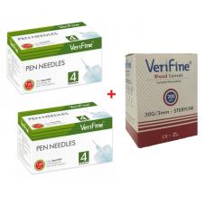 Igły do penów Verifine 33G 0,20mm x 4mm - 100 sztuk