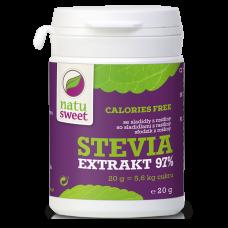 Stevia, pure extract, 97% Rebaudioside A, 20g