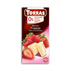 White chocolate with strawberries Torras - 75 g