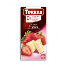 White chocolate with strawberries Torras - 75 g