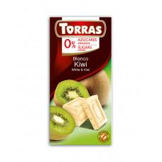 White chocolate with kiwi Torras 75 g